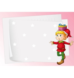 paper sheets and boy vector image