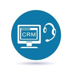 Customer relationship management system vector