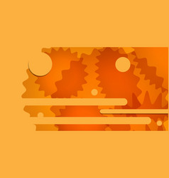 Orange abstract backdrop decorative design vector