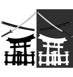 Itsukusima katana vector image