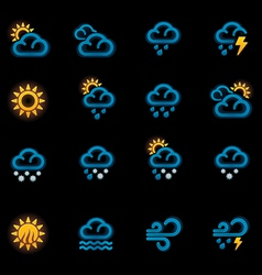 weather forecast icons - day vector image
