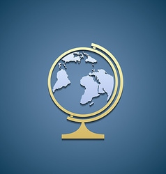 Icon globe flat graphic vector
