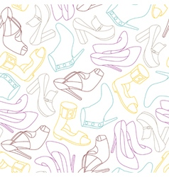 Shoes seamless paint vector