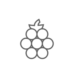 Raspberry line icon vector