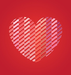 Heart with pattern vector