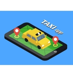 Public taxi online service mobile application vector