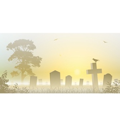 Misty cemetery vector