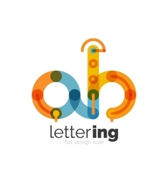 Letter logo business icon vector