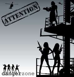 Attention-danger zone vector image vector image