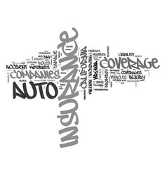 Auto insurance comparison by state text word vector
