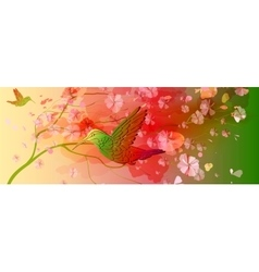 Beautiful floral horizontal background vector image vector image