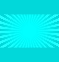 bright cyan rays background vector image vector image