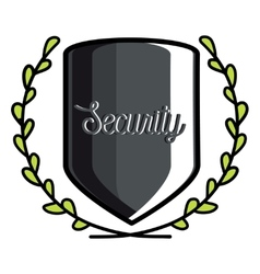 Color vintage security emblem vector