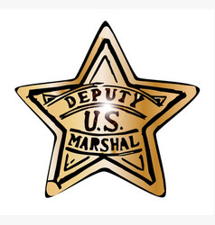 deputy us marshal star vector image