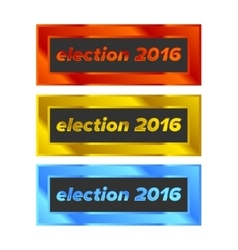Election Badge set vector image