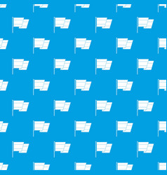 flag of spain pattern seamless blue vector image