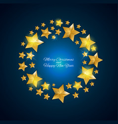happy new year and christms background with golde vector image