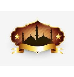 Islamic golden label vector