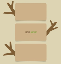 Nature banner eco organic labels and cards vector