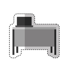 office desk and chair icon vector image