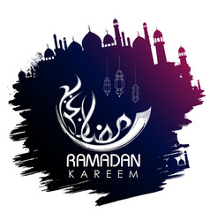 Ramadan kareem generous ramadan greetings in vector