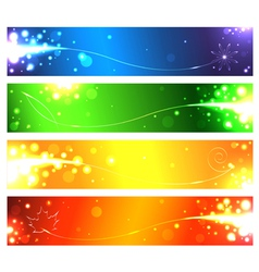 Set of banners for the seasons vector image vector image