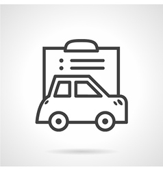 Simple line icon for car paperwork vector