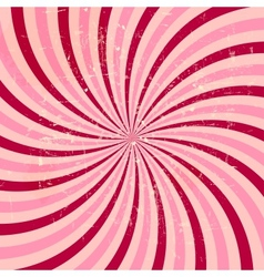 Strawberry cream abstract hypnotic background vector image vector image
