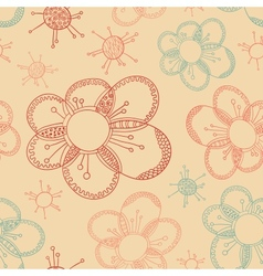Stylized flower seamless texture vector