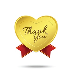 Thank you on banner sign message symbol isolated vector image
