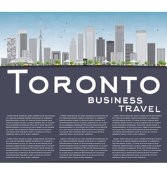 Toronto skyline with grey buildings vector image