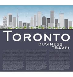 Toronto skyline with grey buildings vector image vector image
