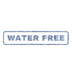 water free textile stamp vector image vector image