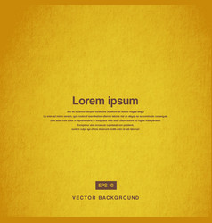 background design texture of the old paper yellow vector image