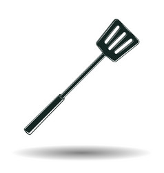 monochrome bbq spatula sign vector image