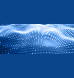 Abstract background with blue neon vector