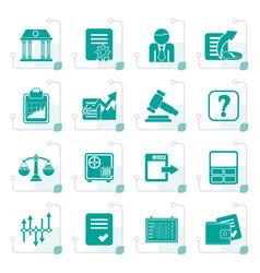stylized stock exchange and finance icons vector image