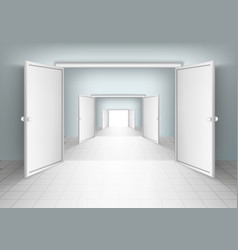 Open doors isolated vector