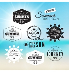Vintage summer holidays typography design in vector