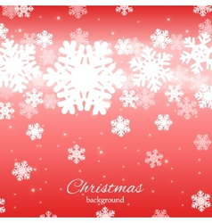 Abstract design with snowflakes and place for text vector image