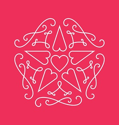 Floral monograms design template with star and vector
