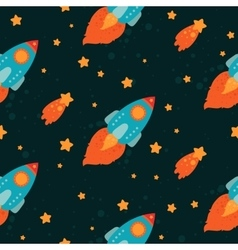 Space background with rockets flying vector