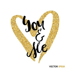 You and me gold vector