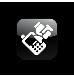 phone repairer icon vector image