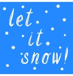 Let it snow christmas calligraphy vector