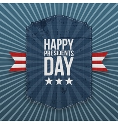 Happy presidents day big american poster template vector