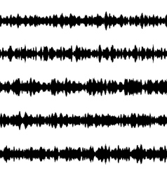 Black music sound waves EPS 10 vector image