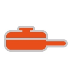 Kitchen pan isolated icon design vector