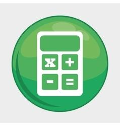 Calculator button icon social media design vector