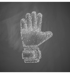 Gloves icon vector